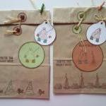 4 Rustic Bear Bags with Coordinatin..